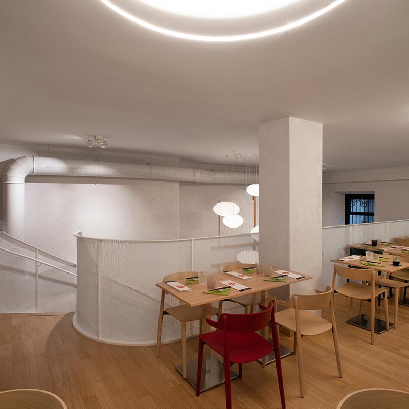 Miyabi_Japanese_restaurant_Arch_Davide_Beretta_Studio_11 metal sheet perforated
