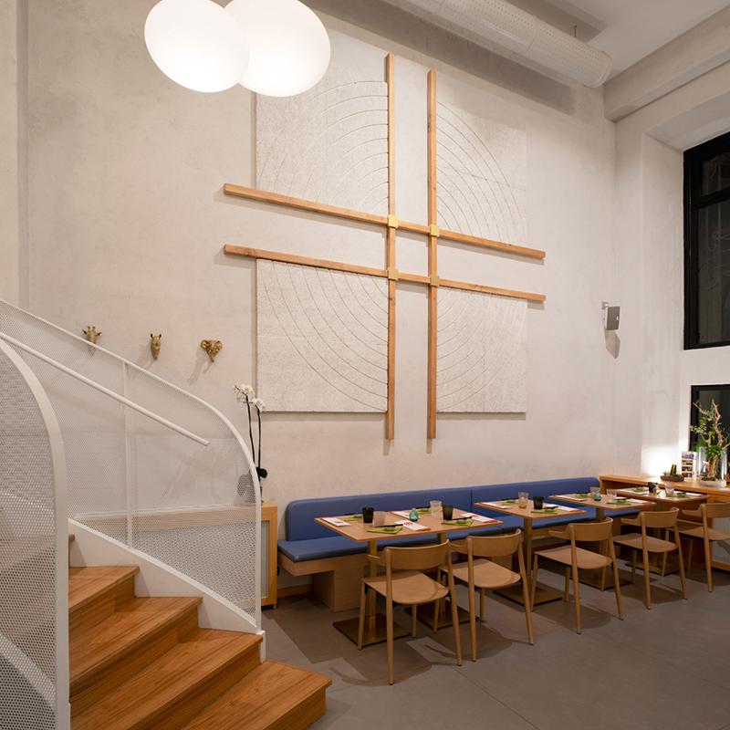 Miyabi_Japanese_restaurant_Arch_Davide_Beretta_Studio_2 celenit cypress wood