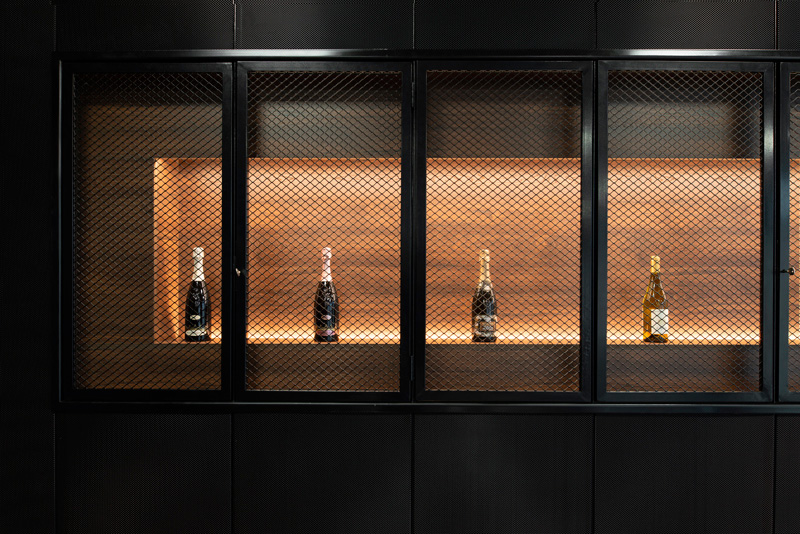 Cremaschi Accademy; arch Davide Beretta; interior; retail; winery; industrial; perforated sheet