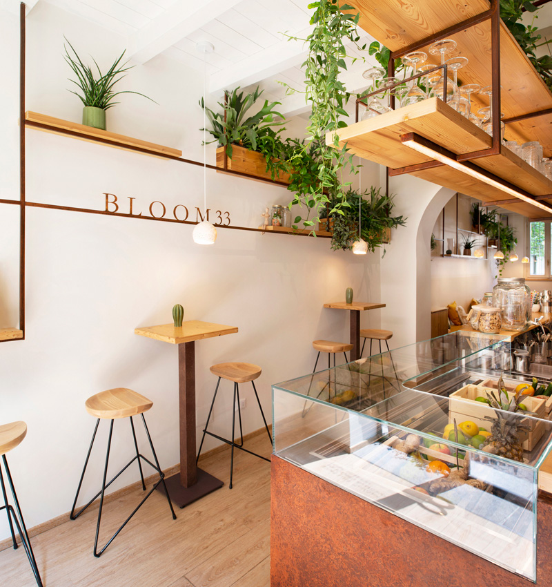 bloom 33; botanic bar; Arch Davide Beretta; interior; design; gin
