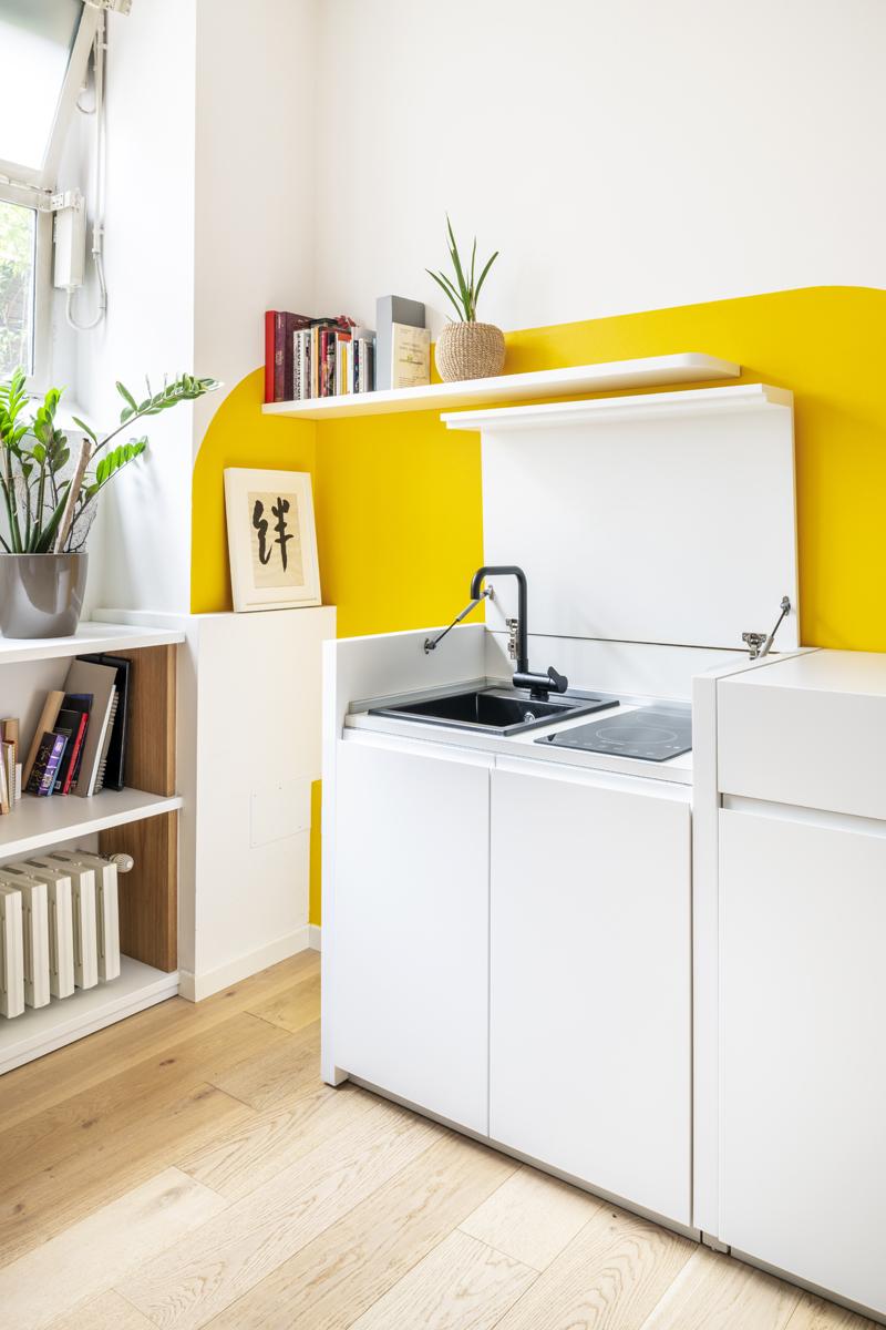 mini cucina giallo bianco mini kitchen yellow white