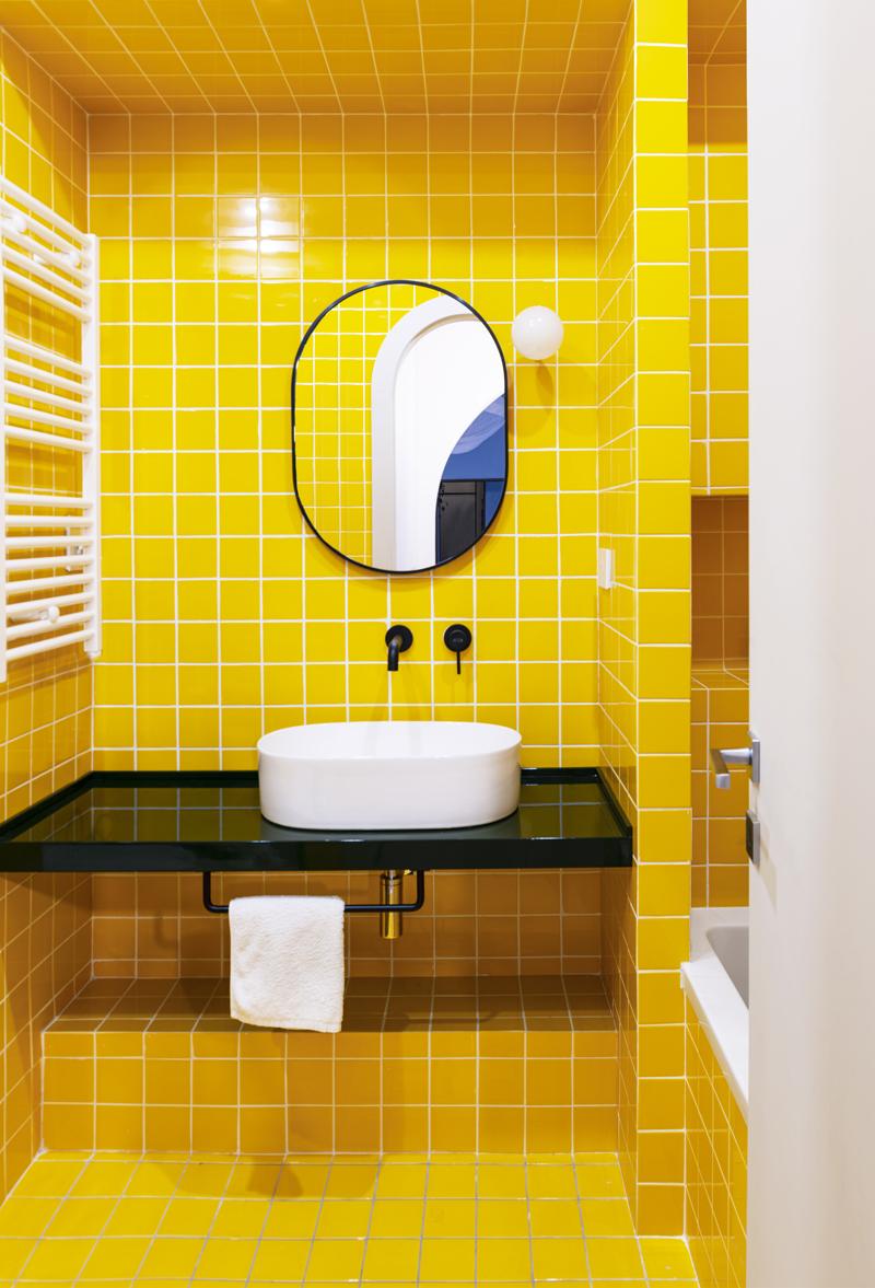 yellow bathroom bagno giallo pop