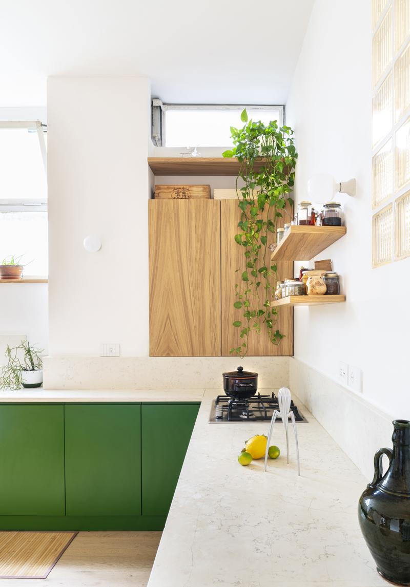 cucina verde green kitchen